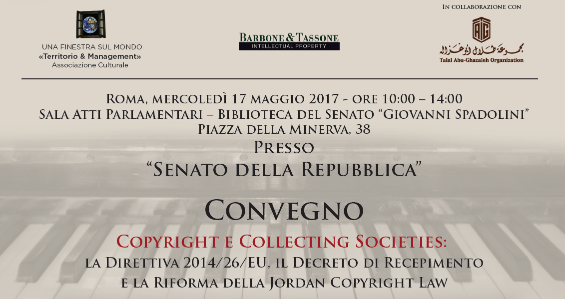 "Studio Legale DDA assiste al convegno ""Copyright e Collecting societies"""
